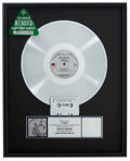 Music Memorabilia:Awards, Metallica ...And Justice for All RIAA Platinum AlbumAward....