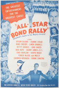 "Movie/TV Memorabilia:Posters, Bob Hope and Others Vintage ""All-Star Bond Rally"" Poster...."