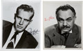 Movie/TV Memorabilia:Autographs and Signed Items, Charlton Heston and Edward G. Robinson Signed Photos.... (Total: 2)