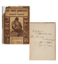 Movie/TV Memorabilia:Autographs and Signed Items, Charlie Chaplin Signed and Inscribed Copy of his Book, My TripAbroad....