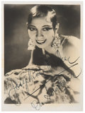 Movie/TV Memorabilia:Autographs and Signed Items, Josephine Baker Signed Photo....