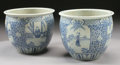 Asian:Chinese, A PAIR OF CHINESE PORCELAIN JARDINIÈRES. 19th Century. 16-3/4inches (42.5 cm) diameter, each. ... (Total: 2 Items)