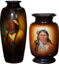 Antiques:Decorative Americana, [American Indian] Two Very Large Indian Theme Vases.... (Total: 2Items)