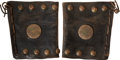 Western Expansion:Cowboy, [American West] Pair of Leather Western Cuffs.... (Total: 2 Items)