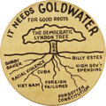 """Political:Pinback Buttons (1896-present), Barry Goldwater: 3½"""" Democratic Lyndon Tree...."""