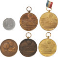 Transportation:Aviation, Nineteenth Century Airship Medals: Lot of Six.... (Total: 6 Items)