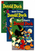 Golden Age (1938-1955):Cartoon Character, Donald Duck Group (Dell, 1952-55) Condition: Average VF.... (Total:9 )