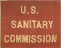 Military & Patriotic:Civil War, Civil War: United States Sanitary Commission Flag, ...