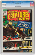 Bronze Age (1970-1979):Horror, Where Creatures Roam #1 (Marvel, 1970) CGC VF/NM 9.0 Off-whitepages....