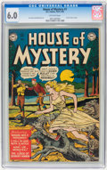 Golden Age (1938-1955):Horror, House of Mystery #1 (DC, 1952) CGC FN 6.0 Off-white pages....