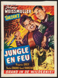 "Movie Posters:Adventure, Swamp Fire (Import Films, Early 1950s). Post War Belgian (14"" X19.25""). Adventure.. ..."
