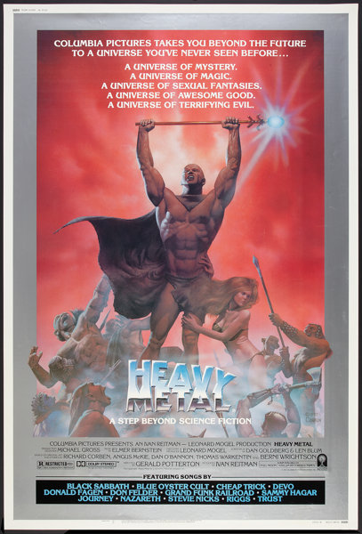 Heavy Metal Columbia 1981 Poster 40 X 60 Style B Animated Lot 195 Heritage Auctions