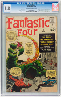 Fantastic Four #1 (Marvel, 1961) CGC GD- 1.8 Cream to off-white pages