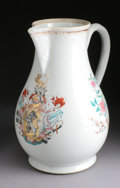 Asian:China Trade, A CHINESE EXPORT PORCELAIN ARMORIAL PITCHER. 18th Century. 12-1/2inches (31.8 cm) high. ...
