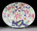Asian:China Trade, A CHINESE EXPORT TOBACCO LEAF PORCELAIN MEAT SERVING PLATE . 18thCentury. 17-1/4 inches (43.8 cm) long. ...