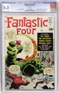 Silver Age (1956-1969):Superhero, Fantastic Four #1 (Marvel, 1961) CGC FN+ 6.5 White pages....