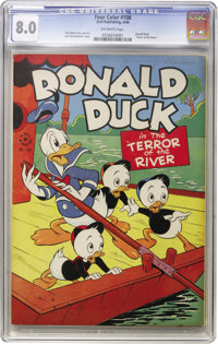 Four Color #108 Donald Duck (Dell, 1946) CGC VF 8.0 Off-white pages