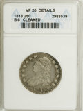 Bust Quarters: , 1818 25C --Cleaned--ANACS. VF20 Details. B-8. NGC Census: (11/282). PCGS Population (9/256). Mintage: 361,174. Numismedia Ws...