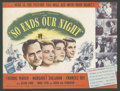 "Movie Posters:War, So Ends Our Night (United Artists, 1941). Herald (9"" X 12""). War....."