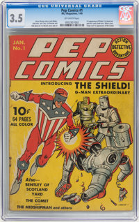 Pep Comics #1 (MLJ, 1940) CGC VG- 3.5 Off-white pages
