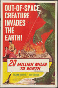 "Movie Posters:Science Fiction, 20 Million Miles to Earth (Columbia, 1957). Autographed One Sheet(27"" X 41""). Science Fiction.. ..."
