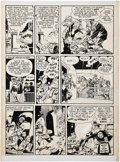 """Original Comic Art:Panel Pages, Will Eisner The Spirit (Weekly Comic Book) """"The Election ofMr. Bowser"""" page 4 Original Art dated 11-9-47 (Des..."""