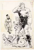 Original Comic Art:Covers, Charles Sultan Punch Comics #2 Mr. E Cover Original Art (Chesler, 1942)....