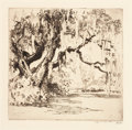 Prints, ALFRED HEBER HUTTY (American, 1877-1954). Magnolia Gardens. Drypoint on paper. Plate: 6-1/2 x 6 inches (16.5 x 15.2 cm)...