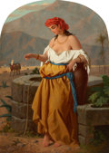 Fine Art - Painting, European:Antique  (Pre 1900), ENRICO FANFANI (Italian, 1810-1910). Woman by the Well. Oil on canvas. 31-1/2 x 22 inches (80.0 x 55.9 cm). Signed lower...