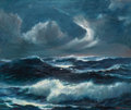 Fine Art - Painting, American:Contemporary   (1950 to present)  , JOHN WISINSKI (American, 1900-1986). Stormy Seas, 1966. Oilon board. 30 x 36 inches (76.2 x 91.4 cm). Signed and dated ...