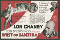 """Movie Posters:Mystery, West of Zanzibar (MGM, 1928). Herald (Folded Out, 5.75"""" X 8.75"""").Mystery.. ..."""