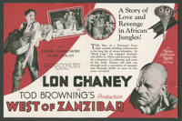 "West of Zanzibar (MGM, 1928). Herald (Folded Out, 5.75"" X 8.75""). Mystery"