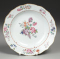 Asian:China Trade, A CHINESE EXPORT PORCELAIN PLATE. 19th Century. Marks: AM83.9 inches (22.9 cm) diameter. ...