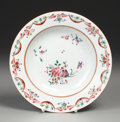 Asian:China Trade, A CHINESE EXPORT PORCELAIN SOUP DISH. Circa 1800. Marks: redChinese characters. 9 inches (22.9 cm) diameter. ...