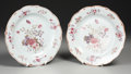 Asian:China Trade, A PAIR OF CHINESE EXPORT PORCELAIN PLATES. 19th Century. 9 inches(22.9 cm) diameter, each. ... (Total: 2 Items)