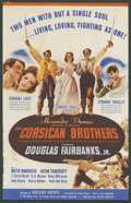 "Movie Posters:Adventure, The Corsican Brothers (United Artists, 1941). Herald ( Folded Out,7"" X 11""). Adventure.. ..."