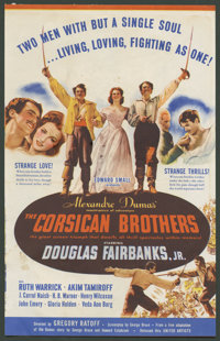 "The Corsican Brothers (United Artists, 1941). Herald ( Folded Out, 7"" X 11""). Adventure"