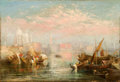 Fine Art - Painting, European:Antique  (Pre 1900), Ascribed to JOSEPH MALLORD WILLIAM TURNER (British, 1775-1851).Seascape. Oil on canvas. 12-1/2 x 18 inches (31.8 x 45.7...