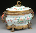 Asian:China Trade, A CHINESE EXPORT BRONZE MOUNTED PORCELAIN COVERED TUREEN. 18thCentury and later. 19 inches (48.3 cm) long. ... (Total: 2 Items)