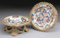 Asian:Chinese, A PAIR OF CHINESE IMARI PORCELAIN PLATES. 18th Century. 11-1/2inches (29.2 cm) diameter, each. ... (Total: 2 Items)