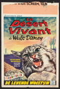 """Movie Posters:Documentary, The Living Desert (5 Continents, 1954). Belgian (14"""" X 21.5""""). Documentary.. ..."""