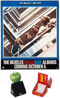 Music Memorabilia:Posters, The Beatles 1962-1966 and 1967-1970 Albums PromoPoster.... (Total: 3 )