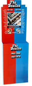 Music Memorabilia:Memorabilia, The Beatles 1962-1966 and The Beatles 1967-1970 CD Display.... (Total: 4 Items)