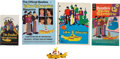 Music Memorabilia:Memorabilia, Beatles Yellow Submarine Toy with Assorted Books.... (Total:5 Items)