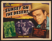 """Sunset on the Desert (Republic, 1942). Lobby Card Set of 8 (11"""" X 14""""). Western. ... (Total: 8 Items)"""