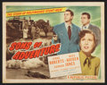 "Movie Posters:Adventure, Sons of Adventure (Republic, 1948). Title Lobby Card (11"" X 14"").Adventure.. ..."