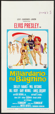 "Clambake (United Artists, 1967). Italian Locandina (13"" X 27.5""). Elvis Presley"