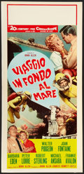 "Movie Posters:Adventure, Voyage to the Bottom of the Sea (20th Century Fox, 1961). ItalianLocandina (13"" X 27.5""). Adventure.. ..."