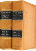 Books:First Editions, John Henry Brown. History of Texas, From 1685 to 1892. St.Louis: L. E. Daniell, 1892, 1893. First edition. Two 8vo ...(Total: 2 Items)