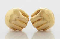 A PAIR OF MEXICAN 18K YELLOW GOLD CUFF LINKS William Spratling, Taxco, Mexico, circa 1960 Marks: WS